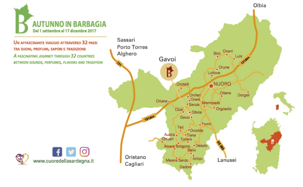 Gavoi Cortes Apertas 7 e 8 ottobre 2017 ecco il programma e la cartina