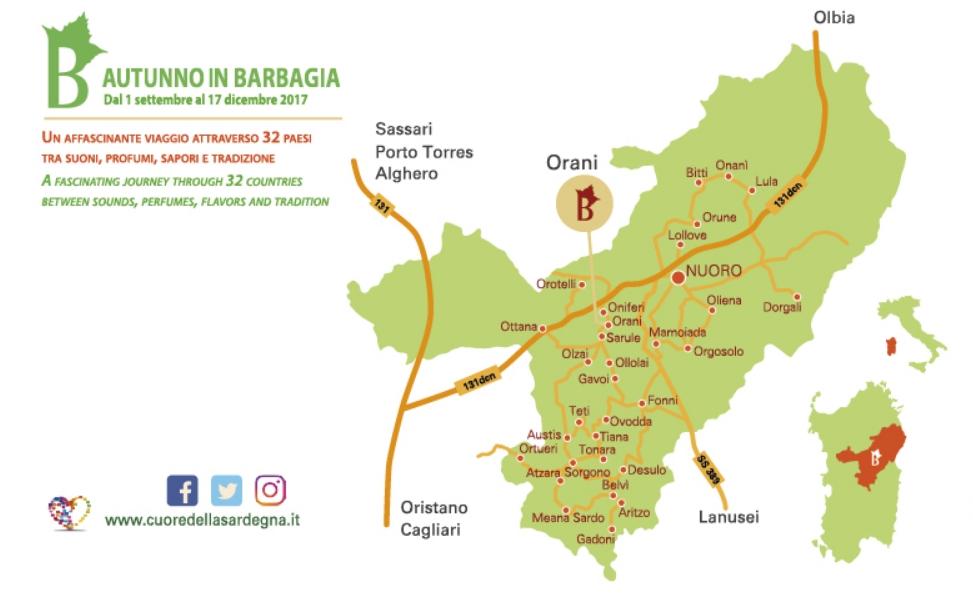 Orani Cortes Apertas dal 23 al 24 settembre 2017 Cartina