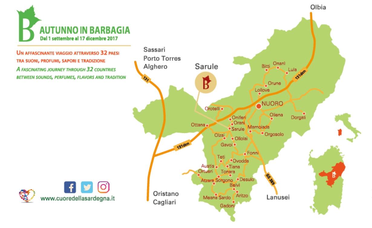 Sarule Cortes Apertas da 16 al 17 settembre 2017 Cartina