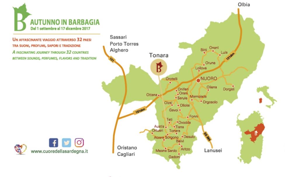 Tonara Cortes Apertas 30 settembre 1 ottobre 2017 programma completo e cartina