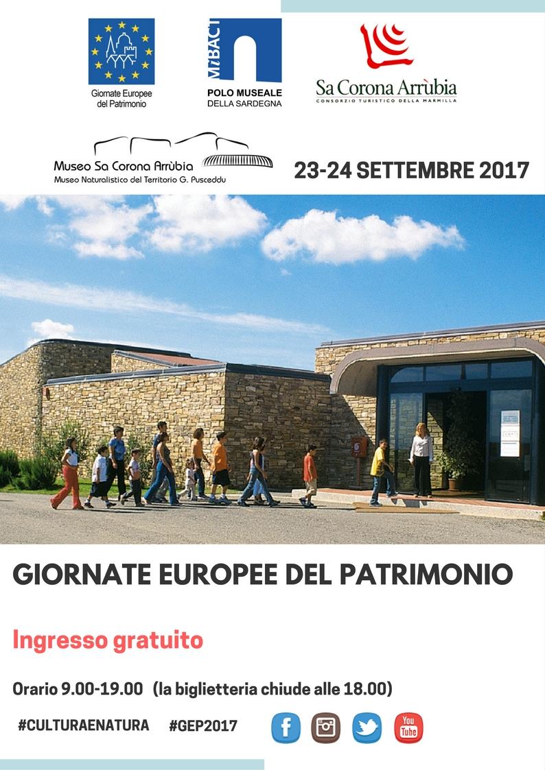 Il Consorzio Turistico Sa Corona Arrùbia ha aderito alle Giornate Europee del Patrimonio nei giorni 23-24 settembre 2017.