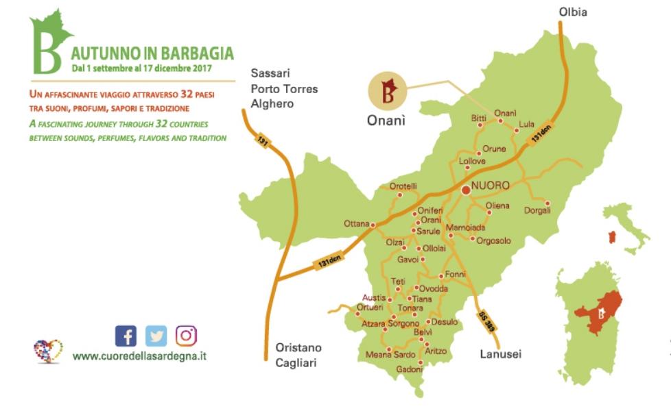 Onani Cortes Apertas 7 e 8 ottobre 2017 ecco il programma completo e la cartina