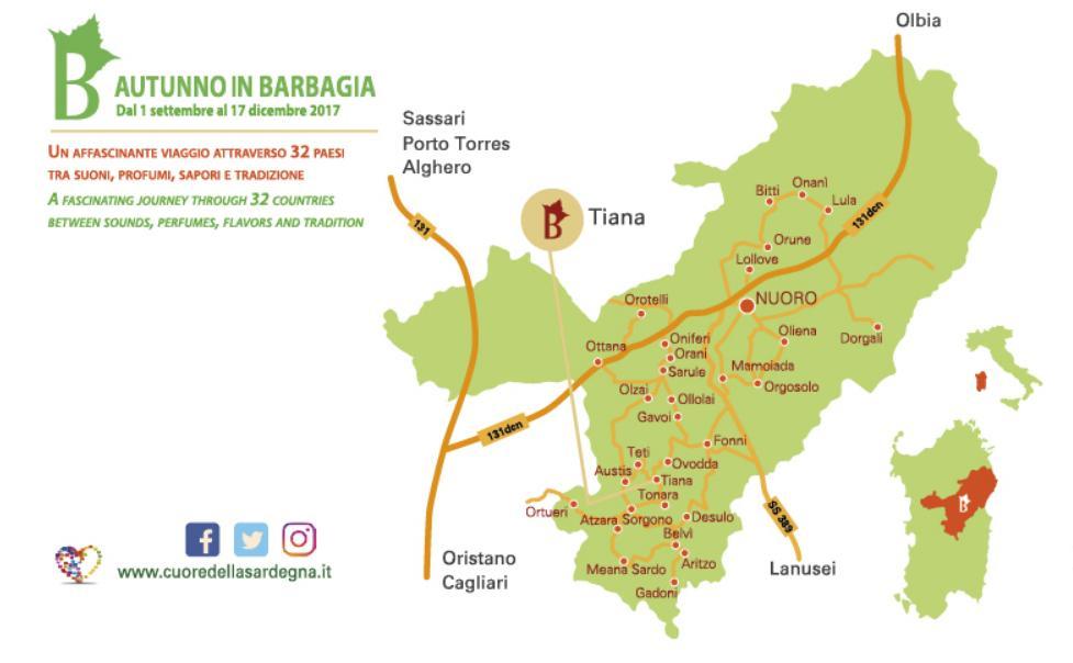 Tiana Cortes Apertas 11 e 12 novembre 2017 programma completo e cartina