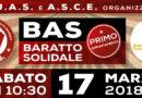 BAS Baratto Solidale organizzato inaugurazione del progetto solidale prevista per  il 17 marzo 2018 a Carbonia