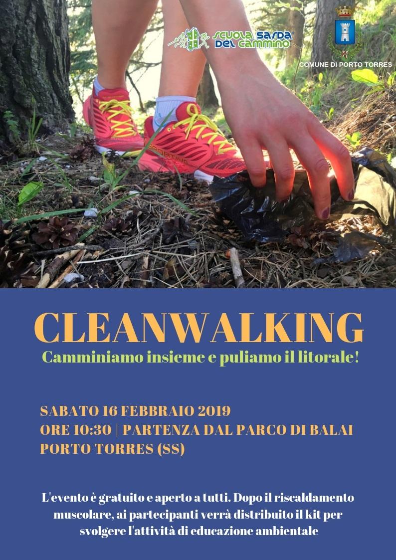 A Porto Torres il 16 febbraio 2019 camminata di sensibilizzazione ambientale nel litorale. CleanWalking attività di cammino e pulizia promossa dalla Scuola Sarda del Cammino in collaborazione con il Comune di Porto Torres.
