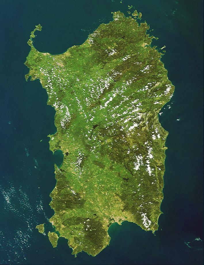 Esa Sardegna dallo Spazio