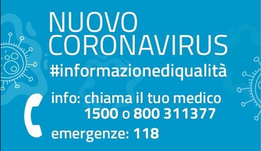 Numero Verde Sardegna Coronavirus